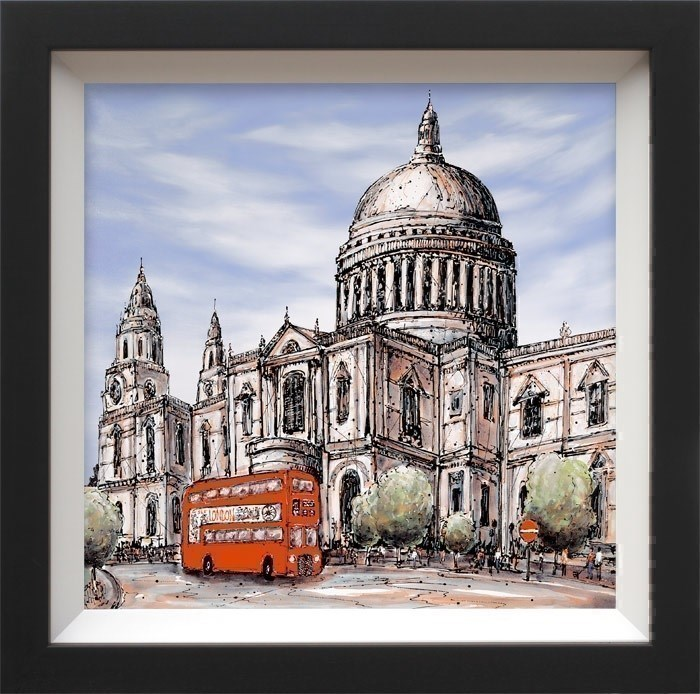 Piccadilly Bound by Phillip Bissell - Hand Finished Limited Edition on Canvas sized 24x24 inches. Available from Whitewall Galleries